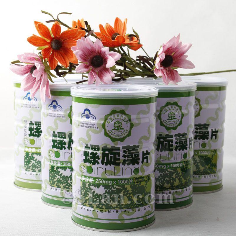 中农螺旋藻1000片实惠桶装