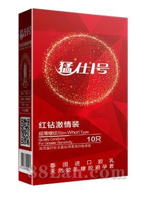 猛仕1号红钻激情装避孕套(螺纹型)
