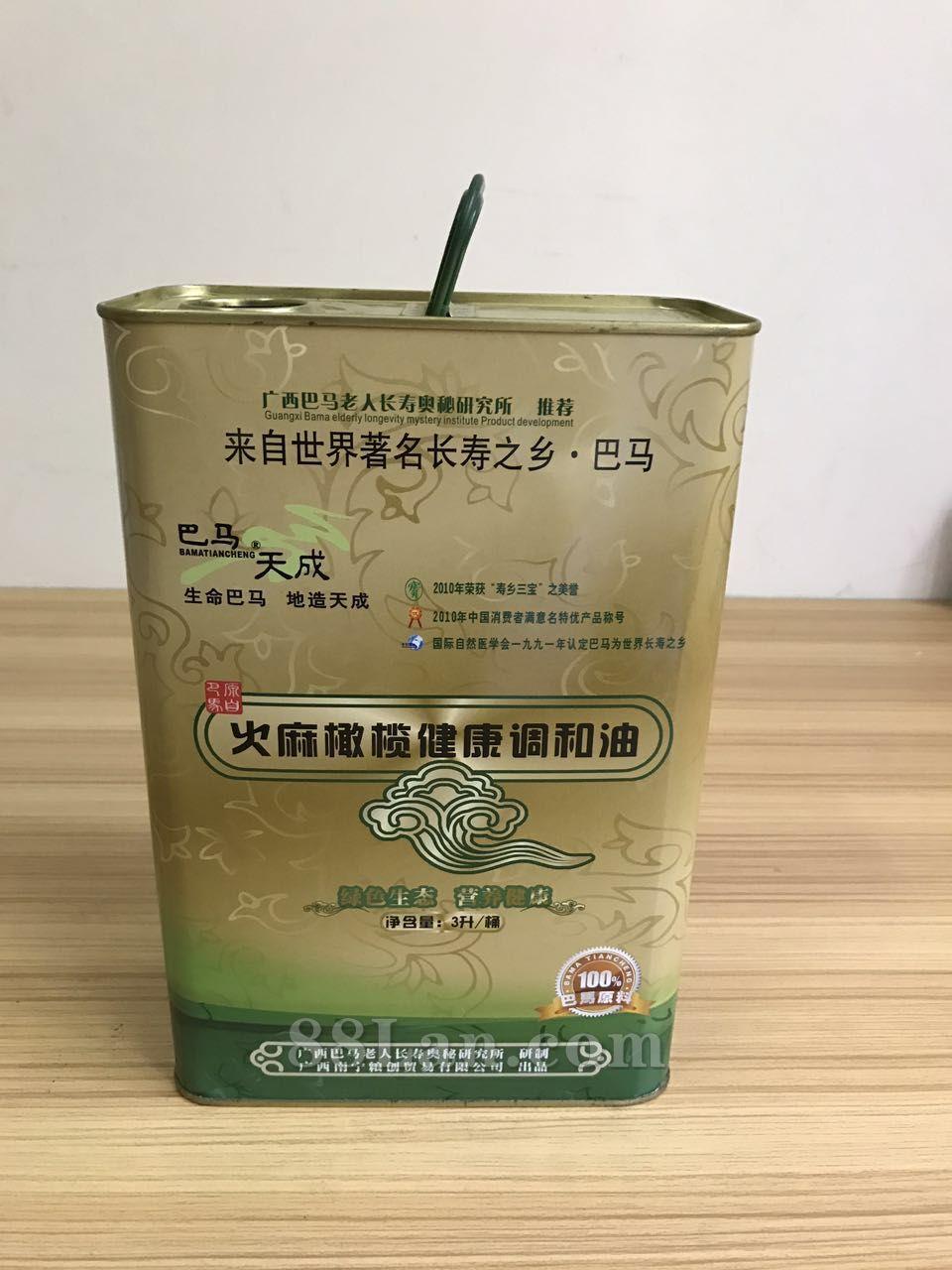 火麻橄榄健康调和油3L