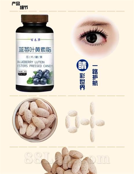代加工蓝莓叶黄素脂片叶黄素OEM保健食品代加工改善视力产品-济宁恒康