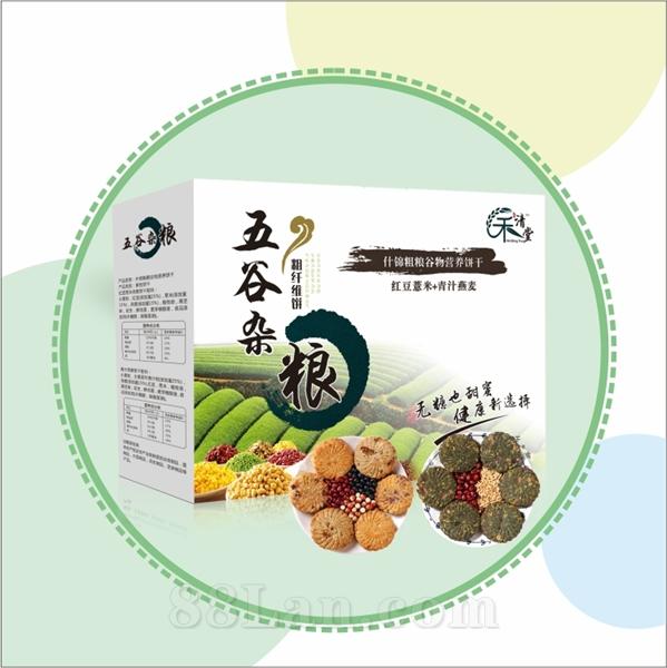 五谷粗粮营养饼(红豆薏米+青汁燕麦)
