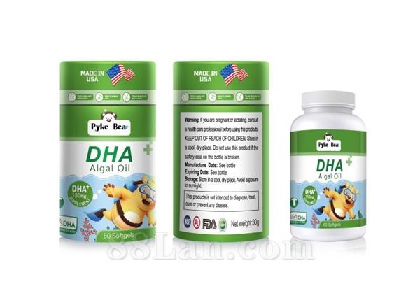 美国原装进口派克熊牌DHA藻油