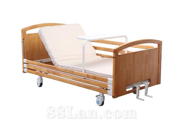 双摇实木居家护理床 养老院多功能老人床