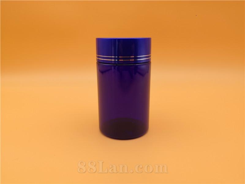 PET100CC蓝色圆柱瓶