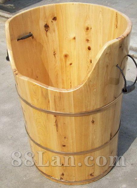 邱氏养生泡澡木桶、蒸澡木桶、柏木桶