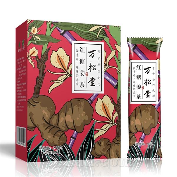 万松堂红糖姜茶可溶性姜枣茶批发代理