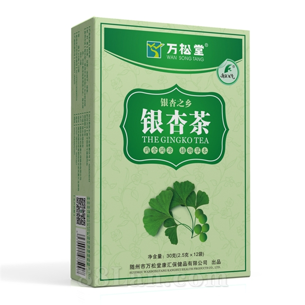 2.5g*12袋万松堂银杏茶