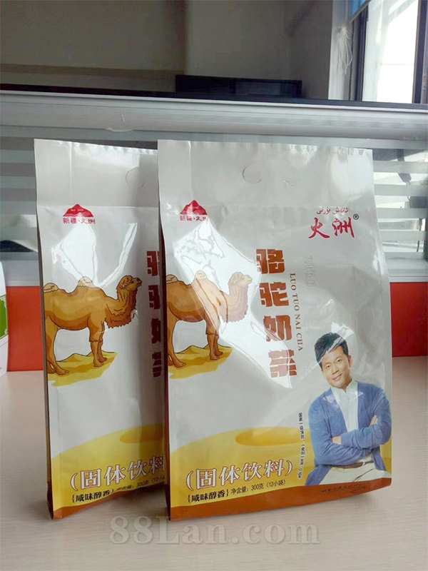 工厂直供 原产 正规乳品 火洲骆驼奶茶精品全国招商/oem国家一级演员:何政军代言